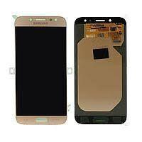 Дисплей (LCD) Samsung J730 Galaxy J7 2017 TFT (подсветка Оригинал) с сенсором золотой