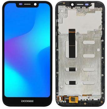 Дисплей Doogee X70 с сенсором (тачскрином) черный с рамкой Оригинал