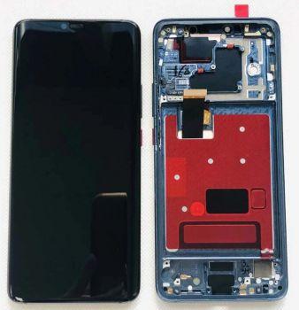 Дисплей Huawei Mate 20 Pro LYA-L09, LYA-L29, LYA-AL00, LYA-AL10, LYA-L0C с сенсором (тачскрином) черный с рамкой Оригинал