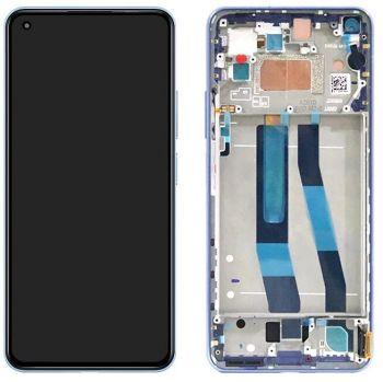 Дисплей Xiaomi Mi11 Lite M2101K9AG, Mi11 Lite 5G с сенсором (тачскрином) черный с рамкой Оригинал