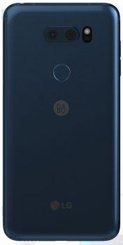 Задняя крышка корпуса LG V30. V30 Plus H930, H930DS, H931, H932, H933, VS996, US998, LS998U синяя Оригинал