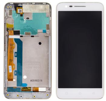 Дисплей Lenovo C2 K10a40 с сенсором (тачскрином) белый с рамкой Оригинал
