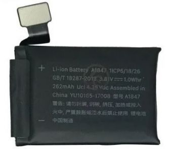 Аккумулятор (батарея) Apple Watch 3 38mm A1847 GPS-версия 262mAh Оригинал