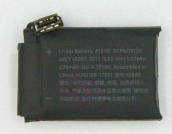 Аккумулятор (батарея) Apple Watch 3 38mm A1848 LTE-версия 279mAh Оригинал