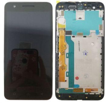 Дисплей Lenovo C2 K10a40 с сенсором (тачскрином) черный с рамкой Оригинал