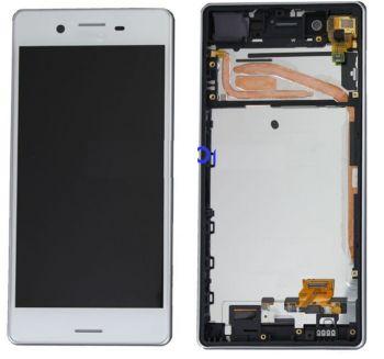 Дисплей Sony F5121, F5122 Xperia X Dual с сенсором (тачскрином) белый с рамкой Оригинал