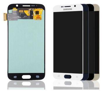 Дисплей Samsung G920 (SM-G920F) Galaxy S6 с сенсором (тачскрином) белый Оригинал