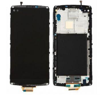 Дисплей LG V10 H900, H901, H960, H961, H962, VS990 с сенсором (тачскрином) черный с рамкой Оригинал