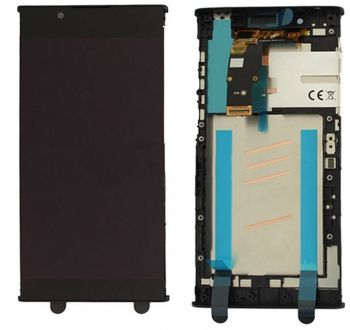 Дисплей Sony G3312, G3311, G3313 Xperia L1 Dual с сенсором (тачскрином) черный с рамкой Оригинал