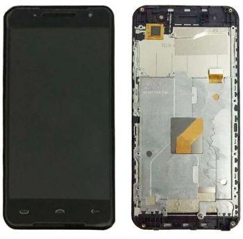 Дисплей HomTom HT37, HT37 Pro с сенсором (тачскрином) черный с рамкой Оригинал