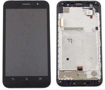 Дисплей Asus ZB500KG ZenFone Go X00BD с сенсором (тачскрином) черный с рамкой Оригинал