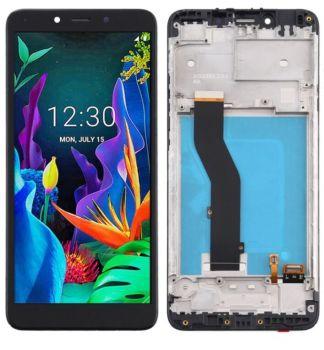 Дисплей LG K20 2019 X120, LM-X120EMW с сенсором (тачскрином) черный с рамкой Оригинал