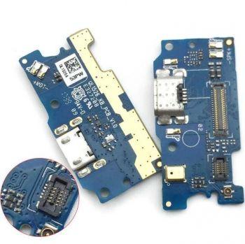 Нижняя плата зарядки Asus ZC520KL ZenFone 4 Max X00HD с микрофоном Оригинал