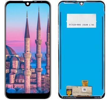 Дисплей LG K50 X520, LMX520BMW, LMX520EMW с сенсором (тачскрином) черный Оригинал