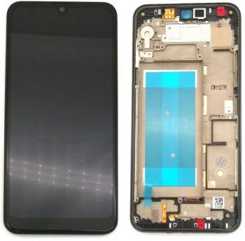 Дисплей LG K50 X520, LMX520BMW, LMX520EMW с сенсором (тачскрином) черный с рамкой Оригинал