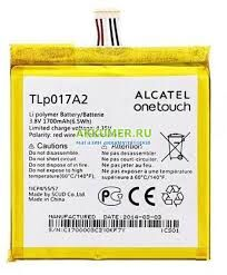 Аккумулятор (батарея) для Alcatel 6012 (TLp017А2) Оригинал