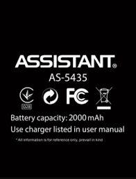 Аккумулятор (батарея) для Assistant AS-5435 Оригинал