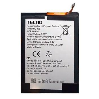 Аккумулятор (батарея) Tecno Spark 4 Lite BB4k BL-39LT 4000mAh Оригинал