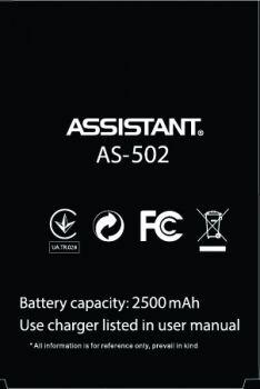 Аккумулятор (батарея) Assistant AS-502 Shot 2500mAh Оригинал