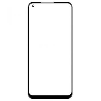 Стекло сенсорного экрана Samsung A215 (SM-A215U) Galaxy A21 черное Оригинал