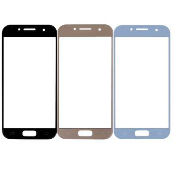 Стекло сенсорного экрана Samsung A520 (SM-A520F, A520F/DS) Galaxy A5 2017 Duos голубое Оригинал