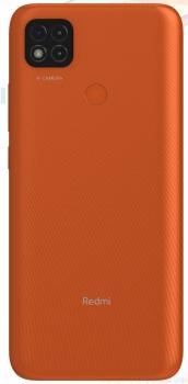Задняя крышка корпуса Xiaomi Redmi 9C M2006C3MG оранжевая Оригинал