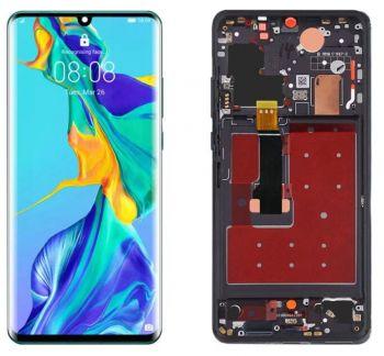 Дисплей Huawei P30 Pro VOG-L29, VOG-L09, VOG-L04 с сенсором (тачскрином) черный с рамкой Оригинал