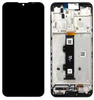 Дисплей Motorola XT2128, XT2128-1, XT2128-2 Moto G20, XT2129, XT2129-1, XT2129-2 Moto G30 с сенсором (тачскрином) черный с рамкой Оригинал