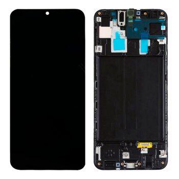 Дисплей Samsung A305 (SM-A305F) Galaxy A30 2019 с сенсором (тачскрином) черный с рамкой Оригинал