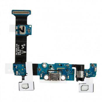 Нижняя плата зарядки (Шлейф зарядки) для Samsung G928F S6 EDGE+ с разъемом наушников, микрофоном, кнопки меню и сенсорным кнопками