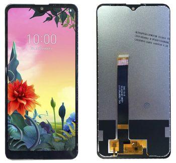 Дисплей LG K50S X540, LMX540BMW с сенсором (тачскрином) черный Оригинал