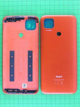 Задняя крышка корпуса Xiaomi Redmi 9C NFC M2006C3MNG оранжевая Оригинал