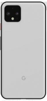 Задняя крышка корпуса Google Pixel 4 G020M, G020I белая Оригинал
