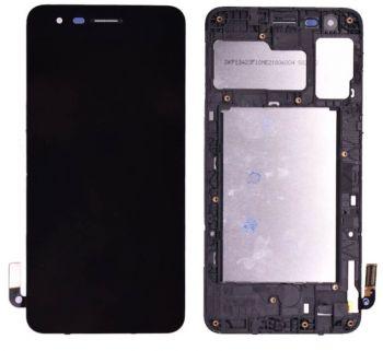 Дисплей LG K8 2018, K9 2018 X210, MX210, LMX210 с сенсором (тачскрином) черный с рамкой Оригинал