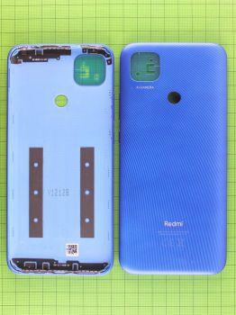 Задняя крышка корпуса Xiaomi Redmi 9C NFC M2006C3MNG синяя Оригинал