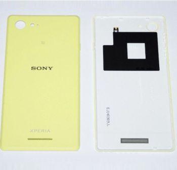 Задняя крышка корпуса Sony D2203, D2202, D2206, D2243 Xperia E3 желтая Оригинал