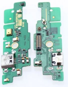 Нижняя плата зарядки (Шлейф зарядки) для Huawei Mate 7 с разъемом, антенной и компонентами