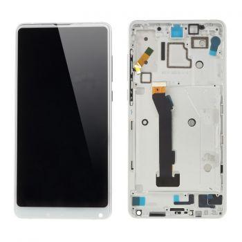 Дисплей Xiaomi Mi Mix 2S M1803D5XA с сенсором (тачскрином) белый с рамкой Оригинал