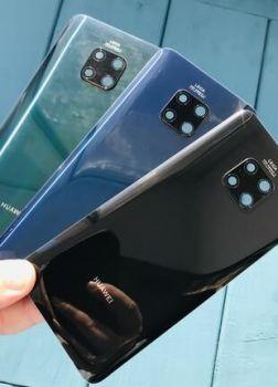 Задняя крышка корпуса Huawei Mate 20 Pro LYA-L09, LYA-L29, LYA-AL00, LYA-AL10, LYA-L0C синяя Оригинал