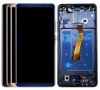 Дисплей Huawei Mate 10 Pro BLA-L09, BLA-L29, BLA-AL00 с сенсором (тачскрином) синий с рамкой Оригинал