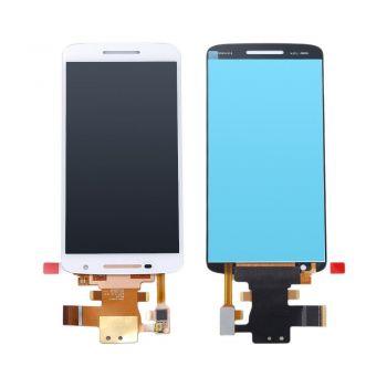Дисплей (LCD) Motorola XT1561 Moto X Play, XT1562, , XT1563, XT1564 с сенсором белый Оригинал