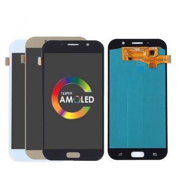 Дисплей Samsung A720 (SM-A720F, SM-A720F/DS) Galaxy A7 2017 Duos с сенсором (тачскрином) голубой Оригинал