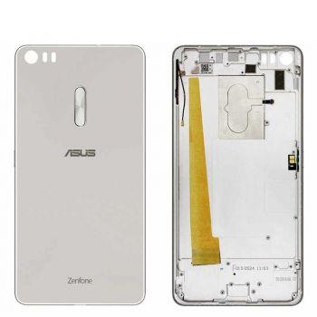 Задняя крышка корпуса Asus ZU680KL ZenFone 3 Ultra A001 серебристая Оригинал