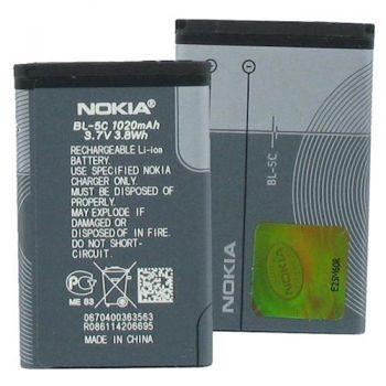 Аккумулятор (батарея) для Nokia BL-5C Nokia 1100, 1101, 1110, 1112, 1600, 2300, 2310, 2600, 2610, 3100, 6230, N70, N72, Оригинал