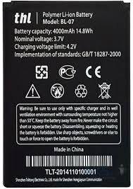 Аккумулятор (батарея) для THL Bl-07 THL4000 Оригинал