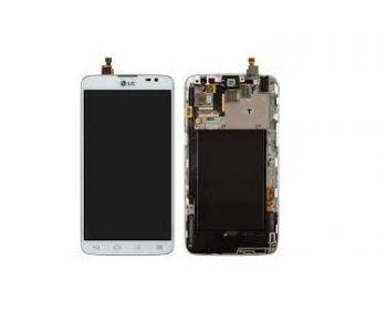 Дисплей (LCD) LG D680 G Pro Lite, D682 G Pro Lite Dual с сенсором белый + рамка Оригинал