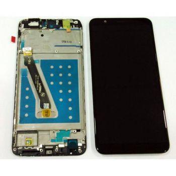 Дисплей Huawei P Smart FIG-LX1, FIG-LA1, FIG-LX2, FIG-LX3 с сенсором (тачскрином) черный с рамкой Оригинал