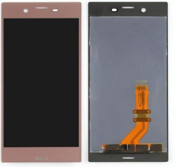 Дисплей Sony F8331, F8332 Xperia XZ Dual Sim с сенсором (тачскрином) розовый Оригинал