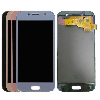 Дисплей Samsung A520 (SM-A520F, SM-A520F/DS) Galaxy A5 2017 Duos с сенсором (тачскрином) черный Оригинал