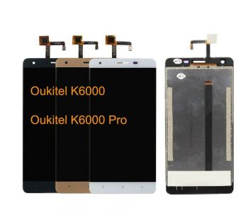 Дисплей (LCD) Oukitel K6000, K6000 Pro с сенсором белый Оригинал